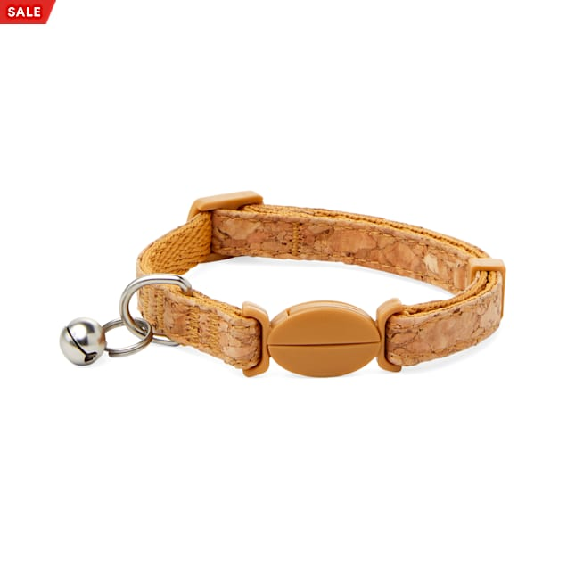 Bond & Co. Started As A Bottle Recycled & Reinvented Cork Cloth Breakaway Cat Collar - Carousel image #1