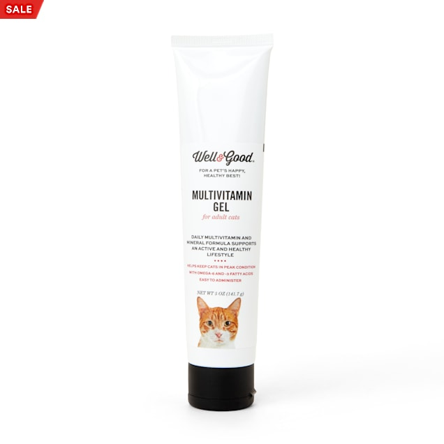 Well & Good Adult Cat & Kitten Vitamin Gel, 5 oz. - Carousel image #1