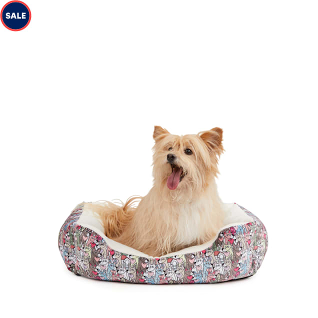 """BOBS from Skechers Loverboy Nester Dog Bed, 24"""" L X 24"""" W - Carousel image #1"""