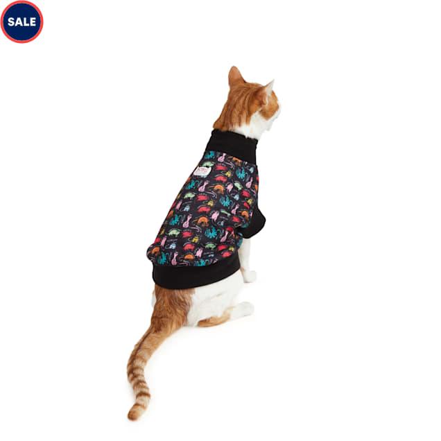 BOBS from Skechers Neon Cattitude Cat Cowl-Neck Sweatshirt - Carousel image #1