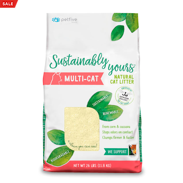 Sustainably Yours Multi-Cat From Corn & Cassava Natural Litter, 26 lbs. - Carousel image #1