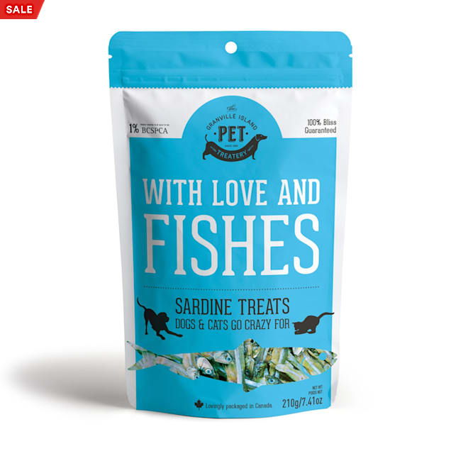 The Granville Island Pet Treatery Pure Proteins With Love and Fishes Sardine Treats for Dogs & Cats, 210 Gram - Carousel image #1