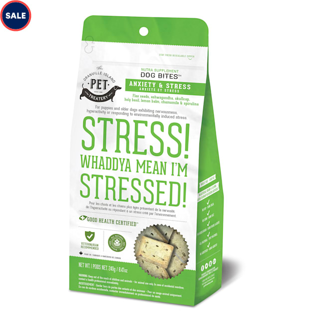 The Granville Island Pet Treatery Nutra Bites Stress! Whaddya Mean I'm Stressed! Functional Bites for Dogs, 240 Gram - Carousel image #1