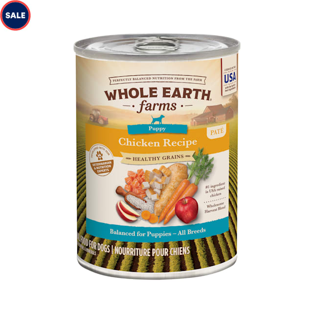 Whole Earth Farms Healthy Grains Puppy Recipe Canned Dog Food, 12.7 oz. - Carousel image #1