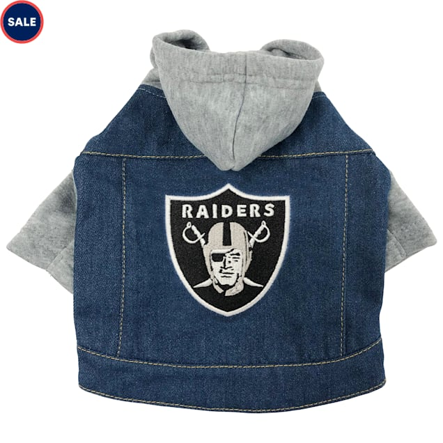 Pets First Raiders Denim Hoodie for Dogs, X-Small - Carousel image #1