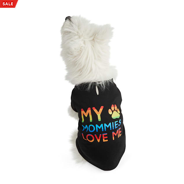 YOULY The Proudest Rainbow My Mommies Love Me Dog T-Shirt, X-Small - Carousel image #1