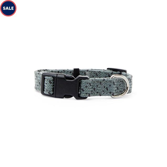 YOULY The Adventurer Grey & Black Webbed Nylon Dog Collar, Small - Carousel image #1