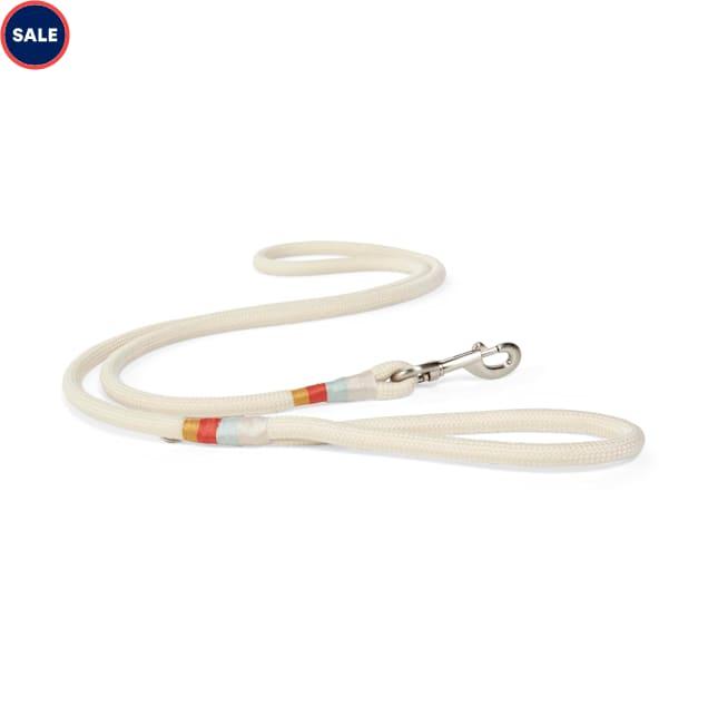 YOULY The Wanderer Cream Rope Dog Leash, 6 ft. - Carousel image #1