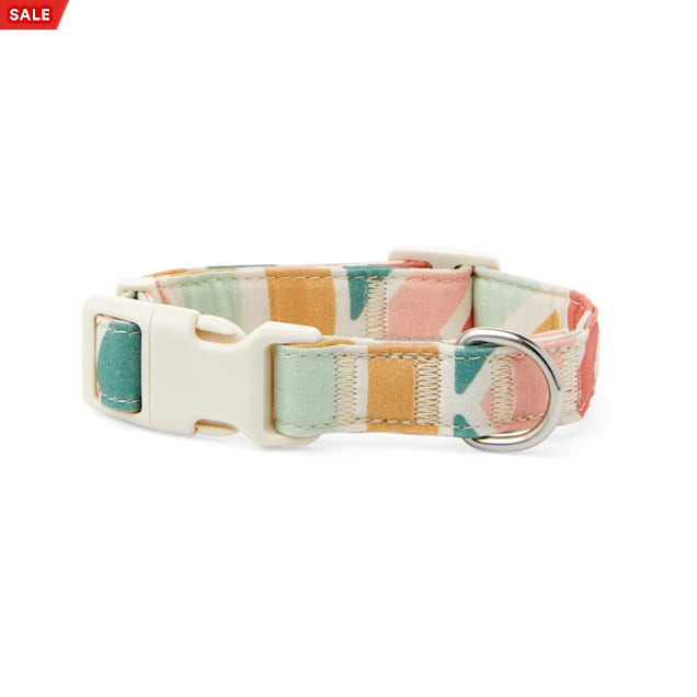 YOULY The Wanderer Rainbow Striped Dog Collar, Small - Carousel image #1