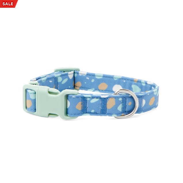 YOULY The Artist Blue & Multicolor Paint Splatter Dog Collar, Small - Carousel image #1
