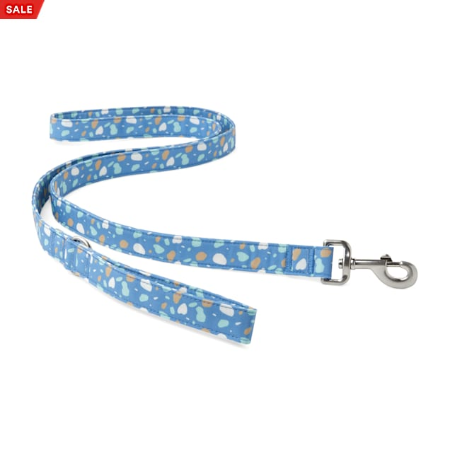 YOULY The Artist Blue & Multicolor Paint Splatter Dog Leash, 6 ft. - Carousel image #1