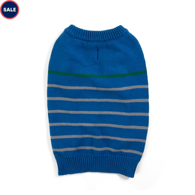 YOULY The Beatnik Navy Striped Dog Sweater, Small - Carousel image #1