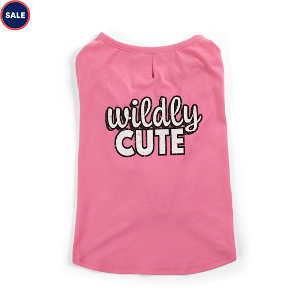YOULY The Lover Pink Wildly Cute Dog T-Shirt, XX-Small - Carousel image #1