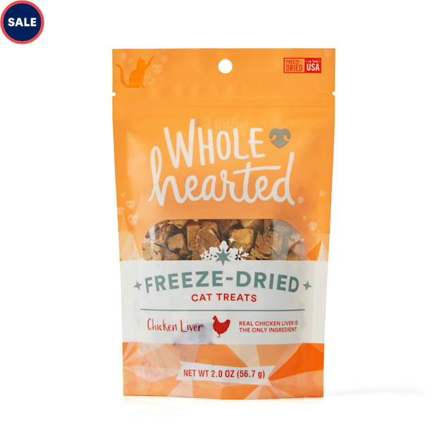 WholeHearted Chicken Liver Freeze-Dried Cat Treats, 2 oz. - Carousel image #1