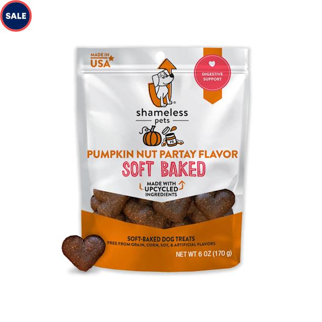 Shameless Pet Treats Pumpkin and Peanut Butter Soft-Baked Biscuit Dog Treats, 6 oz. - Carousel image #1