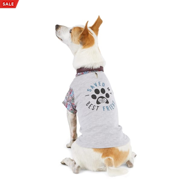 BOBS from Skechers Grey I Saved My Best Friend Dog T-Shirt, X-Small - Carousel image #1