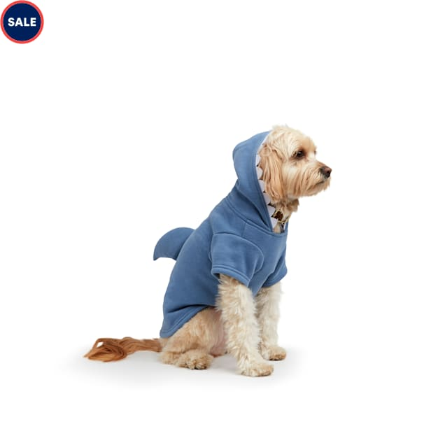YOULY The Beach Bum Blue Shark Dog Hoodie, X-Small - Carousel image #1