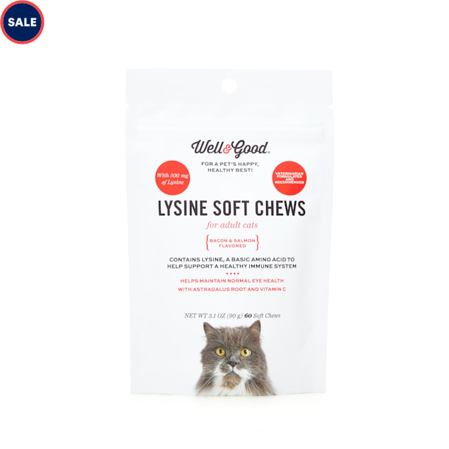 Well & Good Cat Lysine Soft Chews, Count of 60 - Carousel image #1