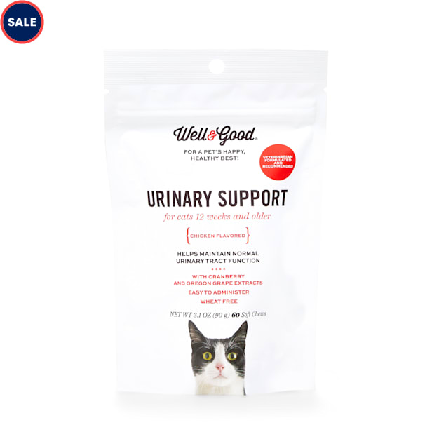Well & Good Cat Urinary Support Soft Chews, 3.1 oz., Count of 60 - Carousel image #1