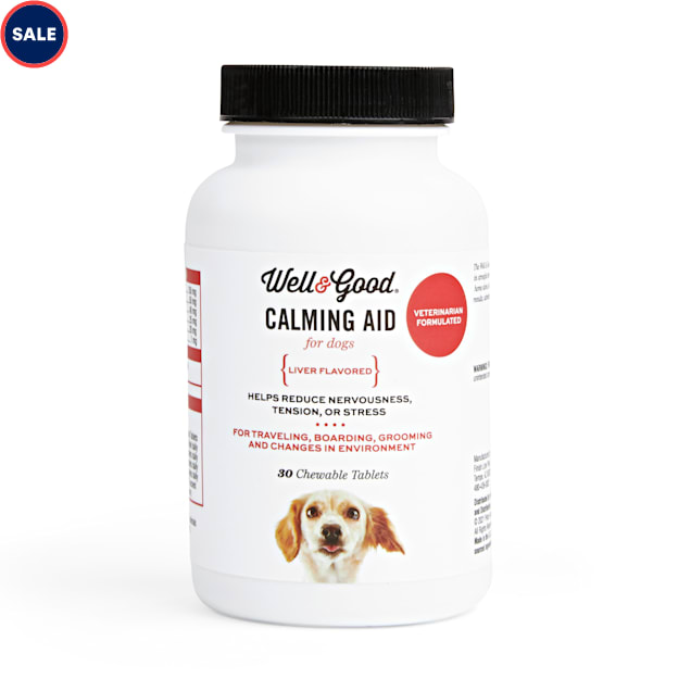Well & Good Dog Calming Aid Chewable Tablets, Count of 30 - Carousel image #1