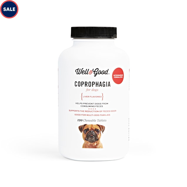Well & Good Coprophagia Chewable Tablets for Dogs, Count of 120 - Carousel image #1