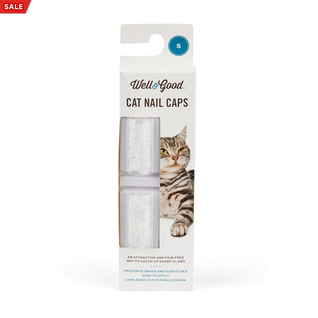 Well & Good Clear Cat Nail Caps, Small - Carousel image #1