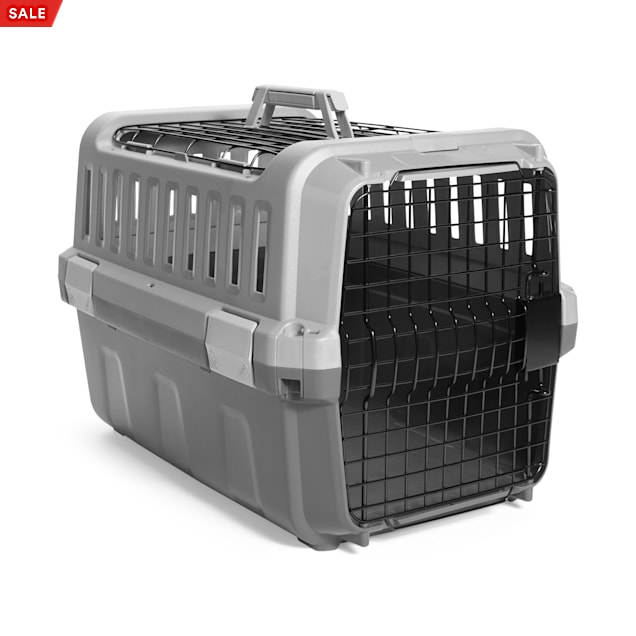 """EveryYay Going Places Silver 2-Door Pet Kennel, 21.5"""" L X 14.2"""" W X 14.2"""" H - Carousel image #1"""