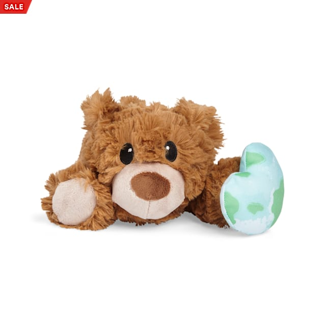YOULY Started As A Bottle Recycled & Reinvented Earth Day Snuggle Bear Plush Dog Toy, Large - Carousel image #1