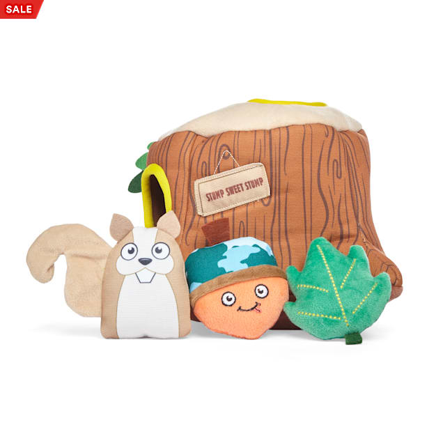 YOULY Started As A Bottle Recycled & Reinvented Forest Friends Plush Burrow Dog Toy, Large - Carousel image #1