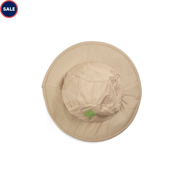 YOULY Started As A Bottle Recycled & Reinvented Reversible Tan & Fern-Print Patrol Dog Hat, Small/Medium - Carousel image #1