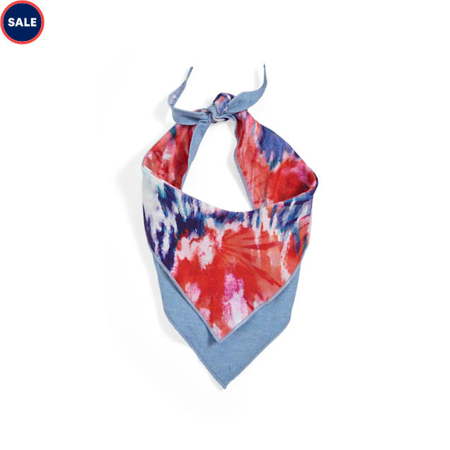 YOULY The Happy-Go-Lucky Tie-Dye Dog Bandana, X-Small/Small - Carousel image #1