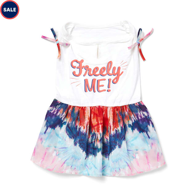 YOULY The Non-Conformist Free To Be Me Multicolor Tie-Dye Dog Dress, XX-Small - Carousel image #1