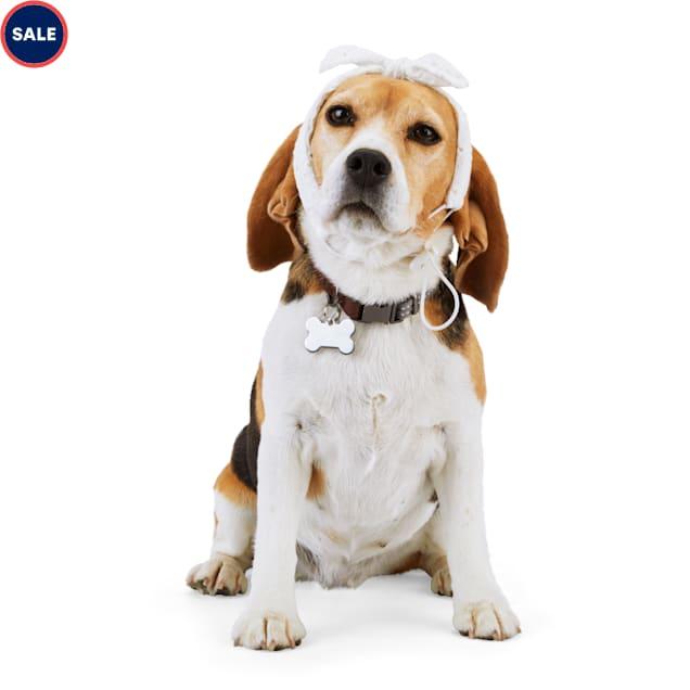 YOULY The Happy-Go-Lucky White Eyelet Dog Headband - Carousel image #1