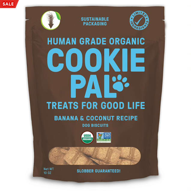 CookiePal Organic Banana and Coconut Recipe Dog Biscuits, 10 oz. - Carousel image #1