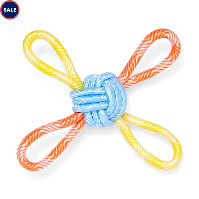 Leaps & Bounds Splash & Dash Floating Rope Knot Water Dog Toy, Medium - Carousel image #1