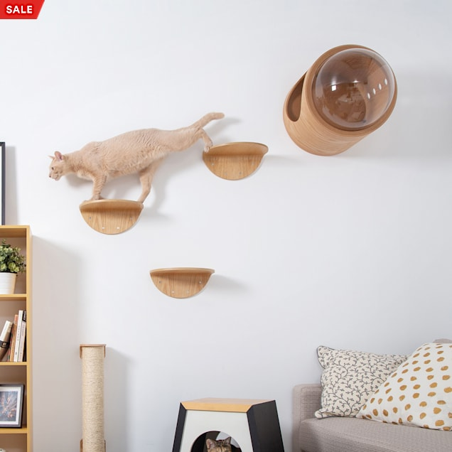 MYZOO AndMakers Lack Wall Mounted Cat Shelf, Count of 2 - Carousel image #1