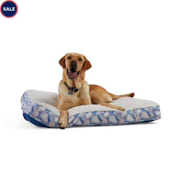 """EveryYay Essentials Snooze Fest Multicolor Tie-Dye Rectangle Lounger Dog Bed, 40"""" L X 30"""" W - Carousel image #1"""
