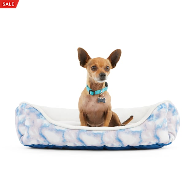 """EveryYay Essentials Snooze Fest Multicolor Tie-Dye Rectangle Dog Bed, 24"""" L X 18"""" W - Carousel image #1"""