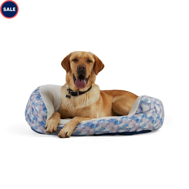 """EveryYay Essentials Snooze Fest Multicolor Tie-Dye Round Dog Bed, 36"""" L X 30"""" W - Carousel image #1"""