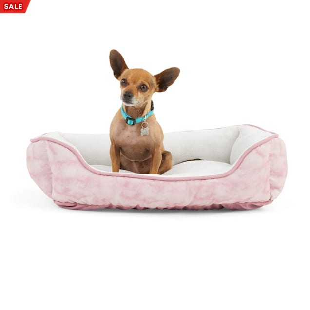 """EveryYay Essentials Snooze Fest Pink Tie-Dye Rectangle Dog Bed, 24"""" L X 18"""" W - Carousel image #1"""