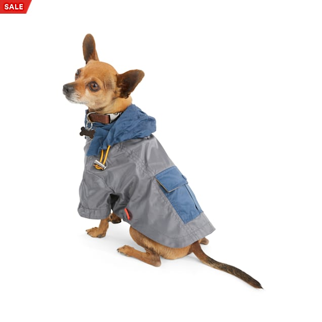 Reddy Grey Colorblocked Dog Raincoat, X-Small - Carousel image #1