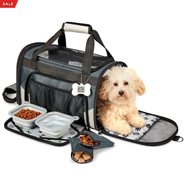 Mobile Dog Gear Gray Pet Carrier Plus, Small - Carousel image #1