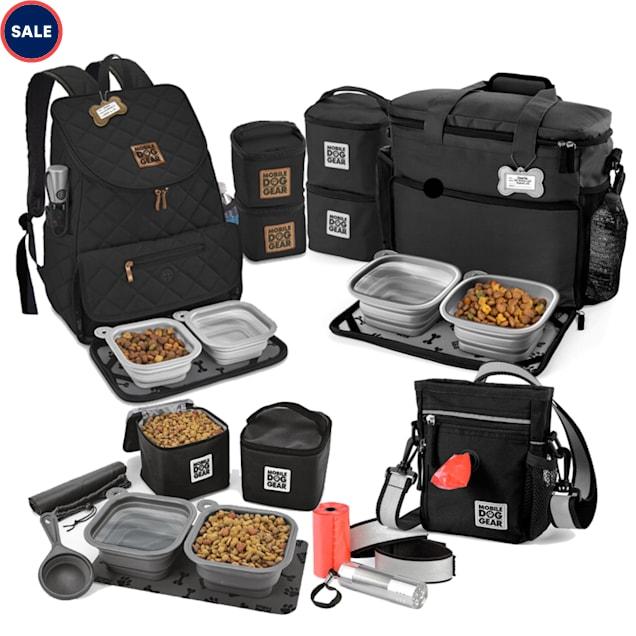 Mobile Dog Gear Black Bundle Day/Night Week Away Bag, Dine Away Set and Weekender Backpack - Carousel image #1