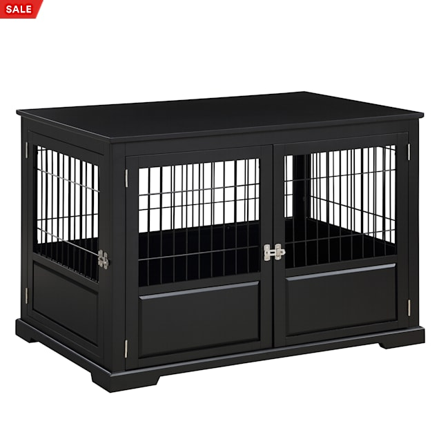"Zoovilla Fairview Triple Door Black Dog Crate, 43.2"" L X 28.5"" W X 30"" H - Carousel image #1"