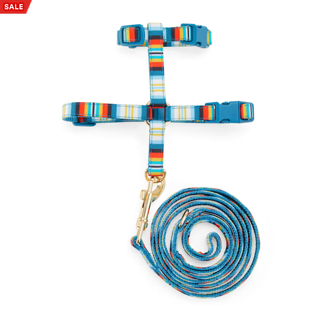 YOULY The Artisan Multicolor Striped Kitten Harness & Leash Set - Carousel image #1