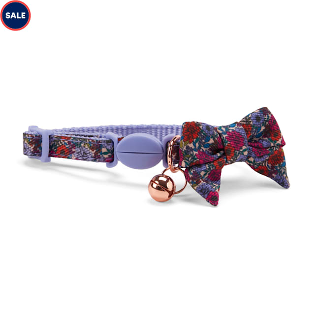 YOULY The Dreamer Red Floral Breakaway Kitten Collar - Carousel image #1