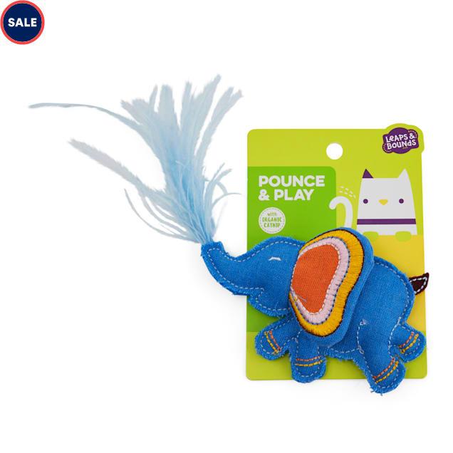 Leaps & Bounds Pounce & Play Elephant Plush Cat Toy - Carousel image #1