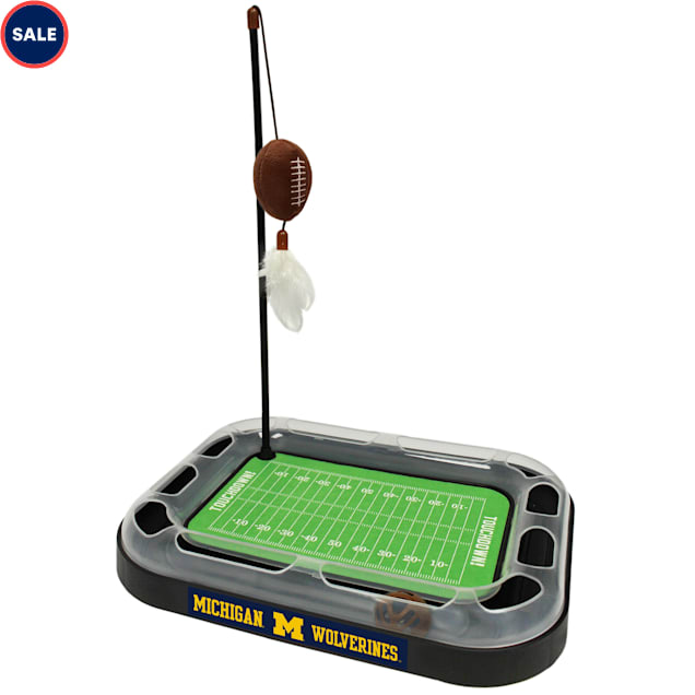 Pets First Michigan Football Cat Scratcher Toy, Large - Carousel image #1