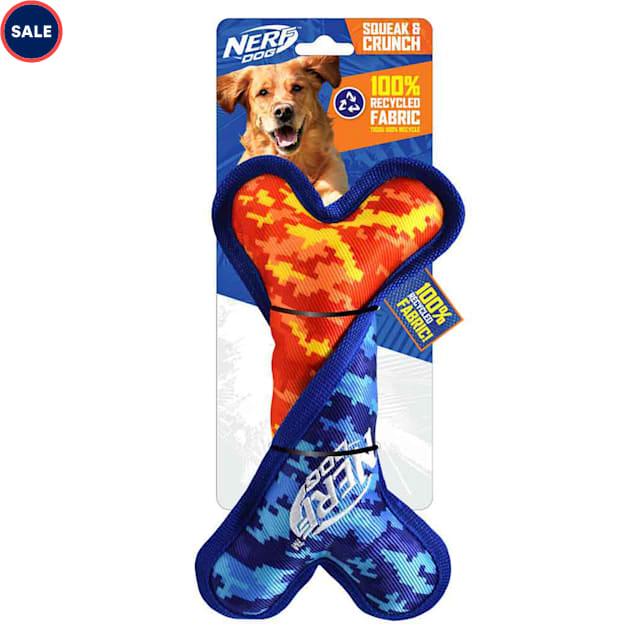 Nerf Nylon Digital Camo Crunch and Squeak Twisted Bone Dog Toy, Medium - Carousel image #1
