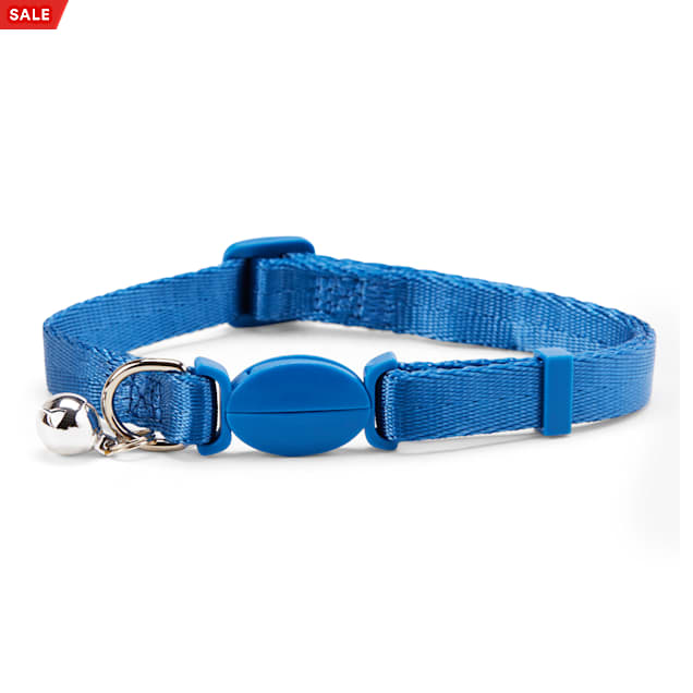 YOULY The Classic Blue Breakaway Large Cat Collar - Carousel image #1